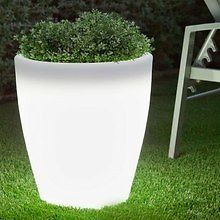 Macetero luminoso LED 41 x 38 cm. jardin,planta,luz,decoracion,maceta.PROMOCION! Pool Lounge, Backyard, Patio, Window Boxes, Led, Potted Plants, Swimming Pools, Planter Pots, Exterior