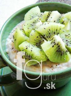 Overnight chia ovsené vločky s kiwi