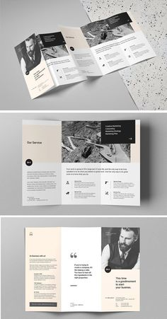 Business Trifold Brochure template is professional, fresh and clean InDesign template. It is for designers working on brochure or based on the projects. Brochure Indesign, Template Brochure, Brochure Layout, Indesign Templates, Corporate Brochure, Leaflet Layout, Leaflet Design, Graphisches Design, Flyer Design