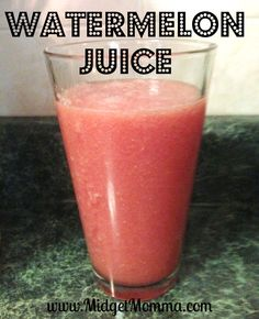 watermelon juice. so refreshing and packed full of health benefits. pure and simple, just toss it in a blender.