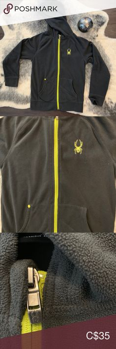 Spyder fleece Jacket Soft and warm Perfect for fall or layer for winter Size is Small. Fits kid's or women's xs Spyder Jackets & Coats Exercise For Kids, Gray Color, Size 12, Kids Shop, Coats, Warm, Best Deals, Winter, Jackets
