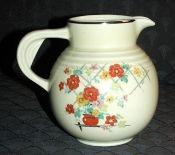 Hall China Floral Lattice Banded Syrup Jug