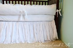 White Lace Baby Crib Bedding  White Cotton by WHIMSICALandWITTY, $410.00