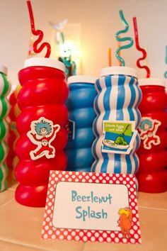 Cat in the Hat Party #drseuss #drinks