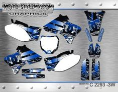 Yamaha YZf series '98-'02 - Moto-StyleMX - graphics decals kits Yamaha Yzf, Custom Design, Decals, Graphics, Kit, Tags, Graphic Design, Sticker, Decal