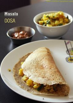 Masala Dosa with easy potato curry - a classic south Indian breakfast