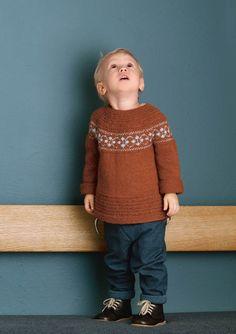 1702 Smårollinger. Strikket Puttygenser Baby Barn, Baby Alpaca, Mulberry Silk, Comfortable Outfits, Knitting Needles, Mini, Merino Wool, Pullover, Stitch
