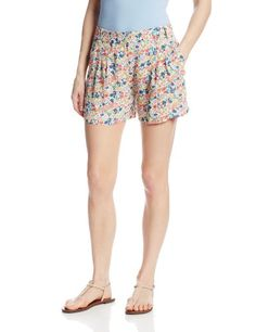 French Connection Womens Marylin Shorts Party Pink Multi 2 >>> Check this awesome product by going to the link at the image. Women's Shorts, Boho Shorts, Casual Shorts, French Connection, Tunics, Gym Shorts Womens, Image Link, Tees, Awesome