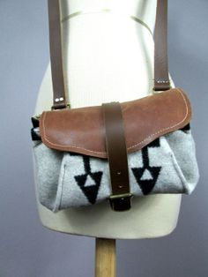 Pendleton wool and leather cross body bag by VitalTemptation, $85.00