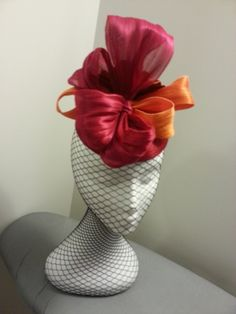 SILK ABACA HEADPIECE BY DEBORAH THOMPSON #millinery #hats #HatAcademy