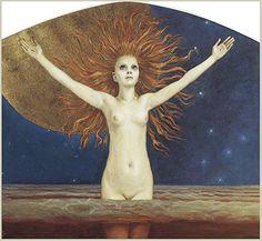 Ad Astra (To the Stars) : Aleksi Gallen-Kallela : c1906 : Fine Art Giclee Print Archival Reprint Company