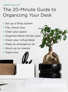 Use this method to organize your desk at work ASAP. Career advice for women, Best careers for women, Career tips for women Studio Organization, Organization Hacks, Organizing Ideas, Desk Organizer Set, Clean Desk, Finding A New Job, Job Interview Tips, Best Careers, Desk Set