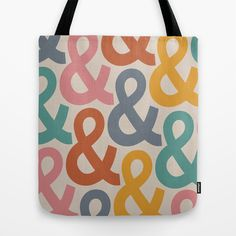 Colorful Ampersands Tote Bag by OddMatter - $22.00