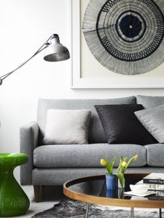 Oh hello dream couch. Love this slightly retro look.  Ally Sofa from Molmic