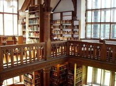 """Gladstone's Library in England -  This incredibly awesome property calls itself a """"residential library."""" Twenty six quaint bedrooms have adorable vintage quilts, but why hang there when you can browse 250,000 books by the fireplace under mahogany etchings and crystal chandeliers?."""