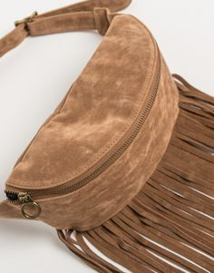 Front View of Fringed Fanny Pack #2020AVEXFESTIVAL