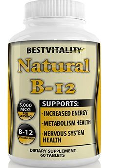 BestVitality Natural Vitamin B-12 Methylcobalamin (Methyl B12) 5000 MCG-Super Strength-60 Tablets-Free Guide ** You can get more details by clicking on the image.