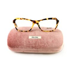 c36306873990 New Miu Miu Eyeglasses VMU 02N 7SO 101 Havana Acetate 54 16 240 Authentic