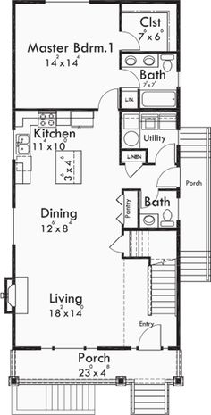 Garage Apartment Floor Plans as well 0159c50280e23bc1 Italian Villa House Plans House Plans With Attached 3 Car Garage likewise European House Plan 85020ms further Narrow Lot House Plans With 3 Car Garage also Small And Prefab Houses. on 1 bedroom house plans with rv garage