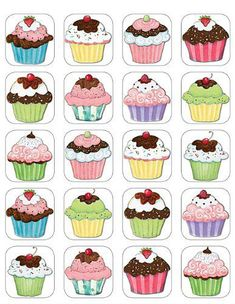 icu ~ Cupcakes Stickers from Susan Winget - Thema cupcakes, Thema taarten en School verjaardag ~ Discrimination visuelle: retrouver les paires Cupcake Drawing, Cupcake Art, Cupcake Illustration, Diy And Crafts, Paper Crafts, Memory Games For Kids, Teacher Created Resources, Food Illustrations, Kids Cards
