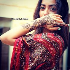 Party henna on the beautiful model Tanya Verma !