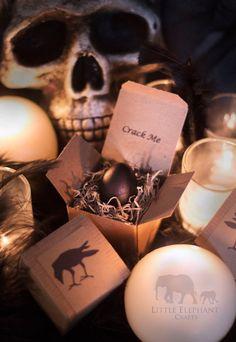Crack Me Black Raven Egg Halloween by LittleElephantCrafts on Etsy
