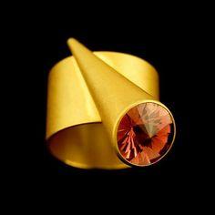 Ring, 18k,Tourmaline Cone, Size 9.5                                                                                                                  Artist                                                           Ulla, Martin Kaufmann