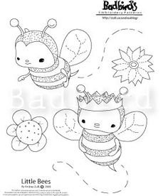 PDF Little Bees Embroidery Pattern