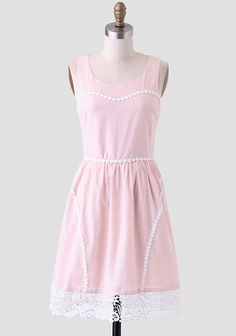 Darla Lace Accent Dress