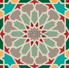 Arabesque nahtlose Muster in editierbaren                                                                                                                                                                                 Mehr