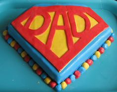 Super Dad Cake...for Mark's bday or possibly Father's Day :)