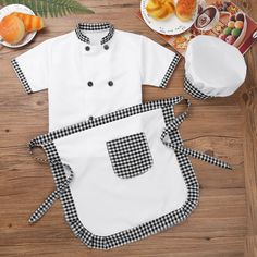 Child Kids Cook Chef Costume Jacket Apron with Hat Cosplay Fancy Dress Up Outfit Costume Hats, Boy Costumes, Dress Up Outfits, Kids Outfits, Kids Chef Costume, Chef Dress, Childrens Aprons, Fancy Dress For Kids, Personalized Aprons
