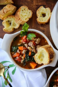 Cannellini Bean Soup - PaleOMG Bean Recipes, Paleo Recipes, Real Food Recipes, Soup Recipes, Chicken Rice Soup, Clean Eating, Healthy Eating, Paleo Cookbook, Paleo Soup