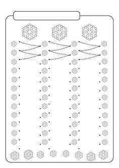 Kreslenie podľa čiar - Album používateľky - Foto 161 FREE Printable Winter Snowflakes Line Tracing Worksheets! Schede Didattiche sull'Inverno per la Scuola dell'Infanzia Preschool Writing, Preschool Curriculum, Kindergarten Worksheets, Motor Activities, Winter Activities, Preschool Activities, Pre Writing, Writing Skills, Line Tracing Worksheets