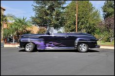 Nice Flames! 1948 Ford Deluxe Convertible LT1, Frame-off Restoration Photo 11