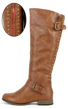 Legend-24 Buckle Studded Riding Boots