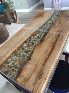 Diy Resin Wood Table, Wood Slab Dining Table, Epoxy Resin Table, Dining Table In Kitchen, A Table, Wood Tables, Sunroom Dining, Diy Epoxy, Kitchen Benches