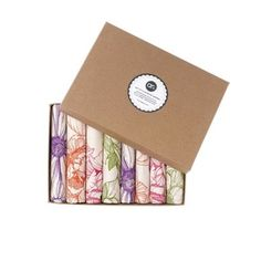 Image of Boxed Gift Set of 8 hand-illustrated Napkins...