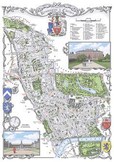 Kensington & Chelsea (Borough) 48 x 33 cm illustrated map print [NEW]