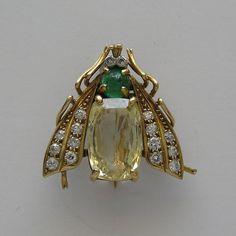 Vintage Van Cleef & Arpels Gold Fly Pin