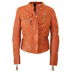 Leather Jacket Burned Orange, 139€, now featured on Fab.