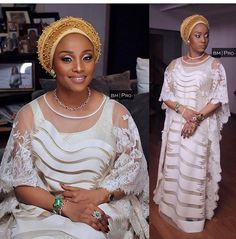Turban head wrap is the latest style in town. Checkout the pictures of beautiful women covered with turban head wrap in Aso Ebi! So beautiful Credit photos: instagram Share and like