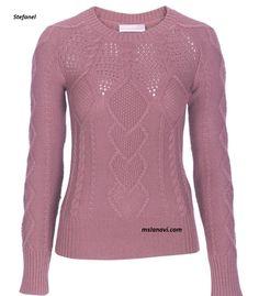Вязаный пуловер спицами от Stefanel http://mslanavi.com/2016/03/vyazanyj-pulover-spicami-ot-stefanel/