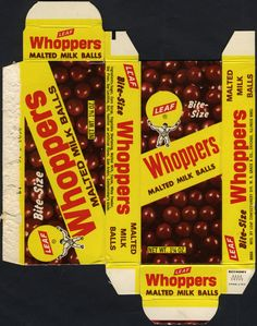 Leaf - Whoppers Malted Milk Balls candy Bite-Size box - 1970's
