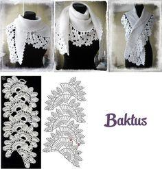 Wonderful crochet border for a beautiful Baktus