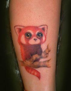 Red panda tattoo