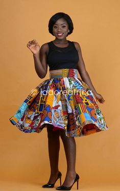 African patchwork midi skirt / African skirt / African midi skirt / Ankara skirt / Ankara midi skirt Ankara Skirt, Fabric Squares, Plus Dresses, Beautiful Black Women, African Fashion, New Look, Midi Skirt, Personal Style, Fashion Dresses