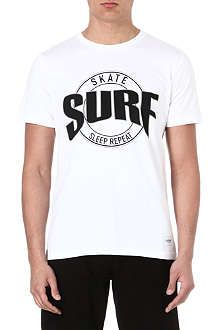 A QUESTION OF Surf Skate Sleep Repeat t-shirt