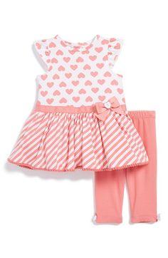 Little Me Flutter Sleeve Tunic & Leggings (Baby Girls) available at #Nordstrom
