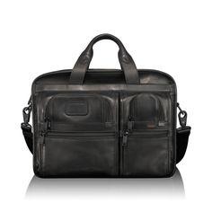 Expandable Organizer Laptop Leather Brief - Tumi